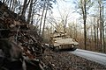 U.S. Soldiers assigned as cavalry scouts to L Troop, 3rd Squadron, 278th Armored Cavalry Regiment, Tennessee National Guard conduct a route reconnaissance in an M2 Bradley fighting vehicle during a combined arms 140125-Z-XR807-001.jpg