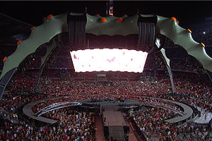 U2 360° Tour stage in Barcelona