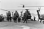 UH-34D helicopters of HMM-163 on USS Iwo Jima (LPH-2) in December 1965.jpg