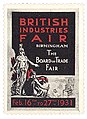 UK-Cinderella Stamp-1931-British Industries Fair Birmingham.jpg