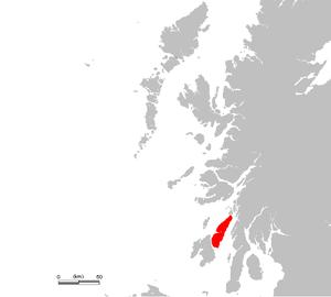 Location of Jura (Diùra)