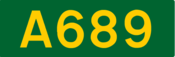 A689 road shield