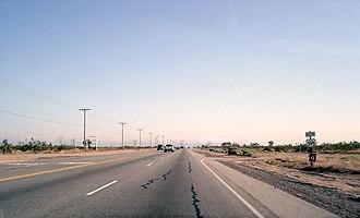 U.S. Route 395 in California - US 395 in the Mojave Desert near Victorville