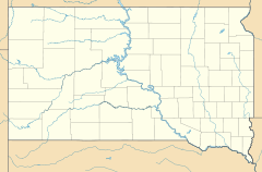 Interior is located in South Dakota