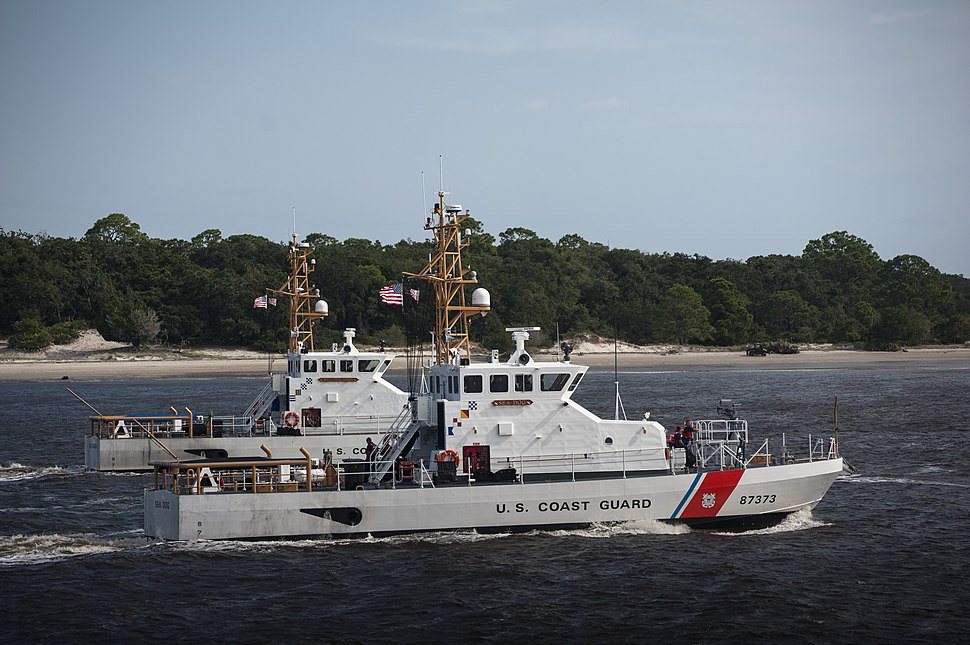 USCGC Sea Dog and USCGC Sea Dragon keep the USN's big subs safe at Kings Bay, Georgia, 2012-09-25
