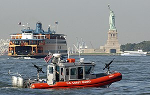 Defender-class boat - Image: USCG defender class NY harbor