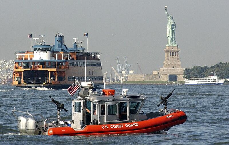Coast Guard Wears Combat Boots When Boarding Private Boats
