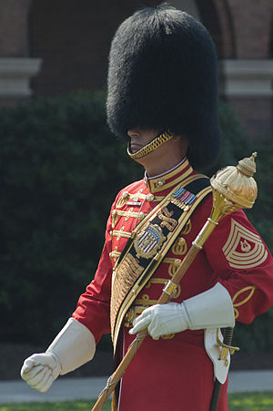 United States military bands - A drum-major of the U.S. Marine Corps Band pictured in 2011