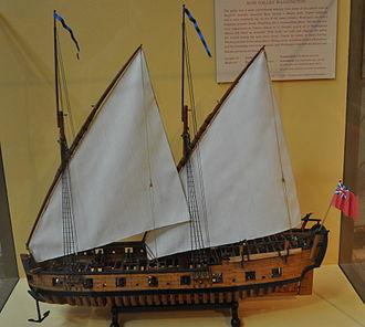 USS Washington (1776 row galley) - Image: USS Washington Model