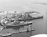 USS Iowa (BB-61) and Norton Sound (AVM-1) at Ingalls 1983.JPEG