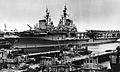 USS Midway (CVB-41) and Franklin D. Roosevelt (CVB-42) at Norfolk c1949.jpg