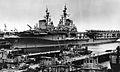 USS Midway (CVB-41) and Franklin D. Roosevelt (CVB-42) at Norfolk c1949.jpg