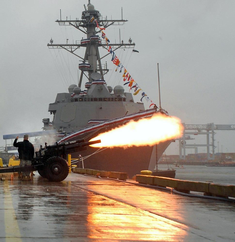USS Sampson Christening
