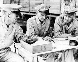 US Generals Harmon, Patch and Twining in the Southwest Pacific 1943.jpg