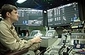 US Navy 020801-N-7871M-001 Lt. Zinser monitors aircraft operation in the Ship's Carrier Air Traffic Control Center (CATCC).jpg