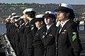 US Navy 031105-N-2385R-003 Sailors man the rails as USS Nimitz (CVN 68) arrives in her homeport at Naval Air Station North Island, Coronado, Calif.jpg
