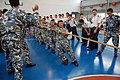 US Navy 061116-M-4217A-006 Members of China People's Liberation Army (Navy)(PLA (N)) pull hard on a rope as part of a tug-of-war competition against Marines of the 31st Marine Expeditionary Unit (MEU).jpg
