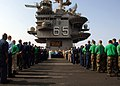 US Navy 070911-N-5928K-004 Sailors conduct a Sept. 11 commemoration ceremony on the flight deck of nuclear-powered aircraft carrier USS Enterprise (CVN 65).jpg