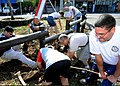 US Navy 090801-N-6138K-394 Sailors assigned to the guided-missile destroyer USS Arleigh Burke (DDG 51) work with personnel from the U.S. Embassy in Mauritius and the local community to refurbish a public park in Port Louie.jpg