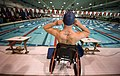 US Navy 100512-N-6932B-692 Master-at-Arms 3rd Class Nathan DeWalt is a competitor in the 50-meter backstroke at the inaugural Warrior Games.jpg