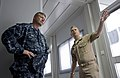 US Navy 100607-N-7526R-023 Cmdr. Alvaro Lima explains different work space assignments to Master Chief Petty Officer of the Navy Rick West during a visit to Lisbon, Portugal.jpg
