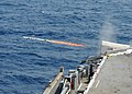 US Navy 100623-N-8913A-031 A Rolling Airframe Missile (RAM) is launched from the aircraft carrier USS George H.W. Bush (CVN 77).jpg