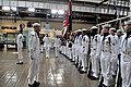 US Navy 110518-N-ZB612-051 Staff Brig. Gen. Ibrahim Salim Al Musharrakh inspects the troops during a welcome ceremony at the Navy Museum during his.jpg