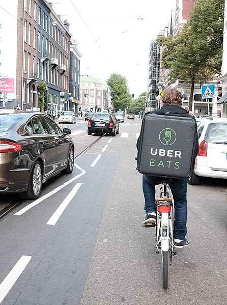 File:UberEats cyclist in Amsterdam.jpg