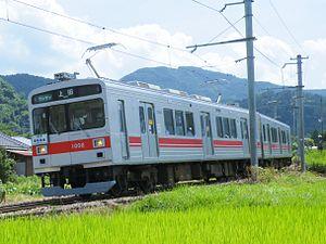 Ueda Electric Railway Bessho Line - An Ueda Electric Railway 1000 series train in August 2008