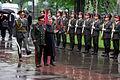Ukrainian Minister of Defense, Gen. of the Army, Olekasander Kuzmuk hosts a full honor military arrival ceremony for the Honorable Donald H. Rumsfeld, U.S. Secretary of Defense, at Kiev, Ukraine, on Jun. 5 010605-D-WQ296-024.jpg
