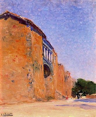 Aureliano de Beruete - Image: Una puerta en las murallas de Ávila