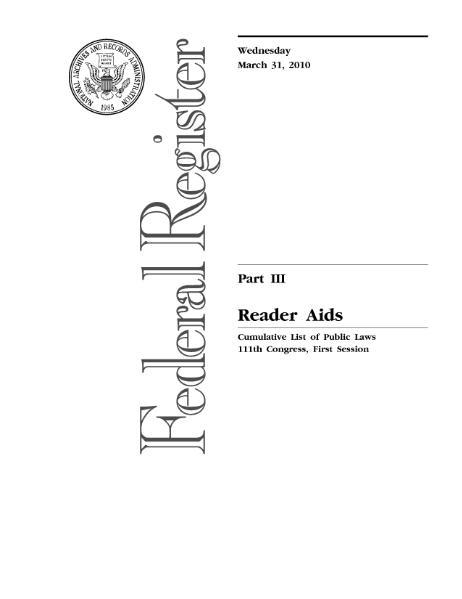 File:United States Statutes at Large Volume 123 Public Laws List.djvu