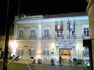 Universidade Autónoma de Lisboa - Image: Universidade Autónoma Lissabon