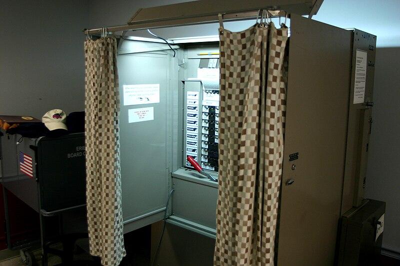File:University at Buffalo voting booth.jpg