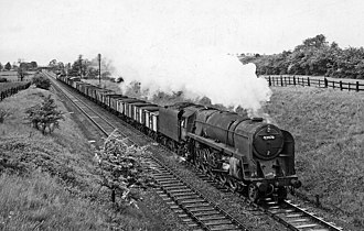 Great Central Main Line - A freight train on the Great Central near Braunston and Willoughby in 1958.