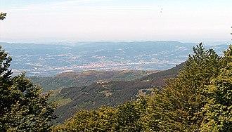Valdarno - Valdarno as seen from Pratomagno
