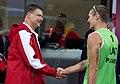 Valdis Dombrovskis apsveic Latvijas pludmales volejbolistus ar uzvaru (7731328184).jpg