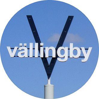 Vällingby - The prospective suburban V symbol.