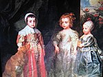 Van Dyck, Charles II, James II and pr Mary.jpg