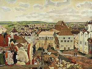 Pietro Antonio Solari - Apollinary Vasnetsov's depiction of the Kremlin under Ivan III.