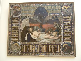 Epitaphios (liturgical) - Epitaphios painted by Viktor Vasnetsov, 1896 (Russian Museum, St. Petersburg).