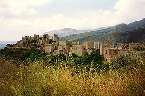 Feud - Vatheia, a typical Maniot village famous for its towers