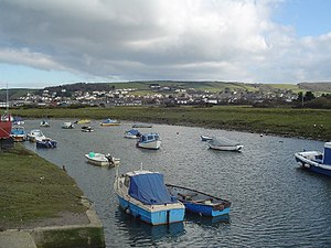 Braunton Canal - The River Caen at Velator Quay, looking towards Braunton East Hill