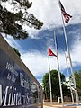 Verde Valley Military Service Park, Cottonwood, Arizona, Welcome Banner and Flags.jpg
