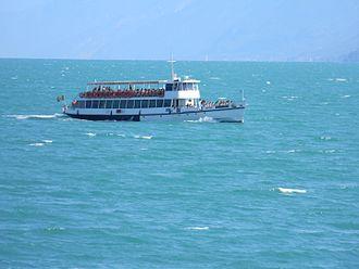 Lake Garda - Ferry boat on the lake.