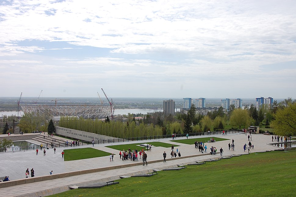 View from Mamayev Kurgan towards Volga River, April 2017 (40030089895)