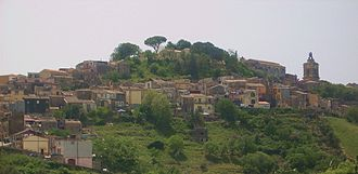 Province of Catania - Panorama of Vizzini on the slopes of Monte Lauro