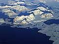 View of the northern Antarctic Peninsula from high altitude during IceBridge&-39;s flight back from the Foundation Ice Stream, on Oct. 28. Original from NASA. Digitally enhanced by rawpixel. (46310522442).jpg