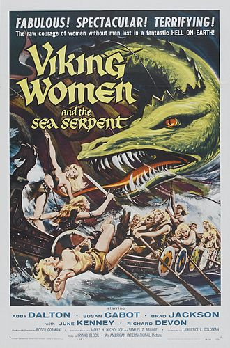 The Saga of the Viking Women and Their Voyage to the Waters of the Great Sea Serpent - Theatrical release poster by Reynold Brown