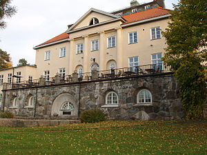 "PUB (Stockholm) - Paul Bergström's private house ""Villa Paulsro"" at Bosön, Lidingö, today owned by, the Swedish Sports Confederation."